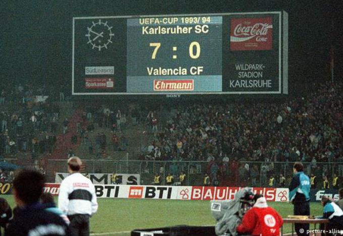 Copa de la UEFA 93/94: Karlsruhe 7 Valencia 0