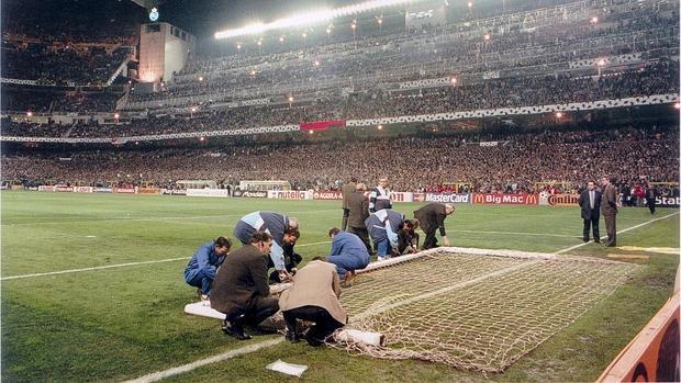 La caída de la portería del Bernabéu