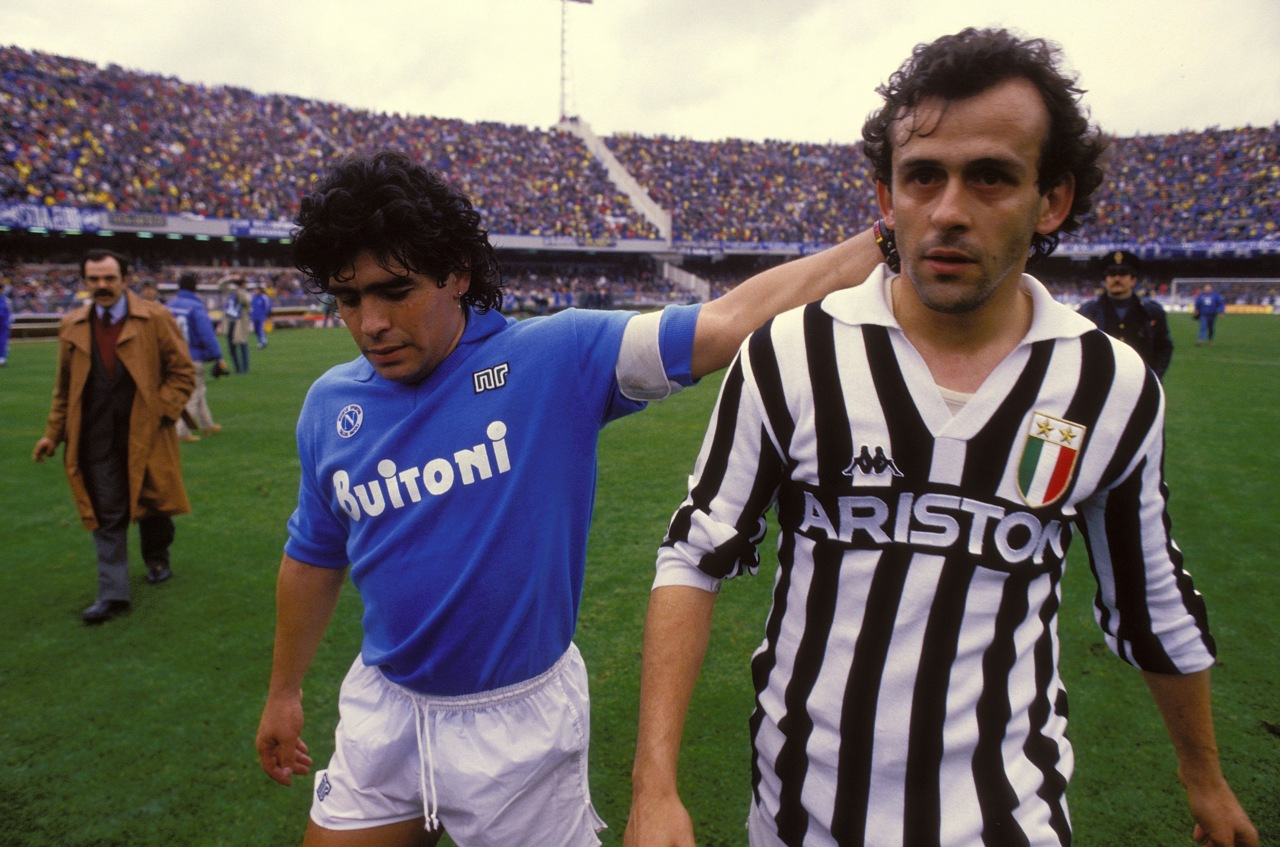 Maradona y Platini