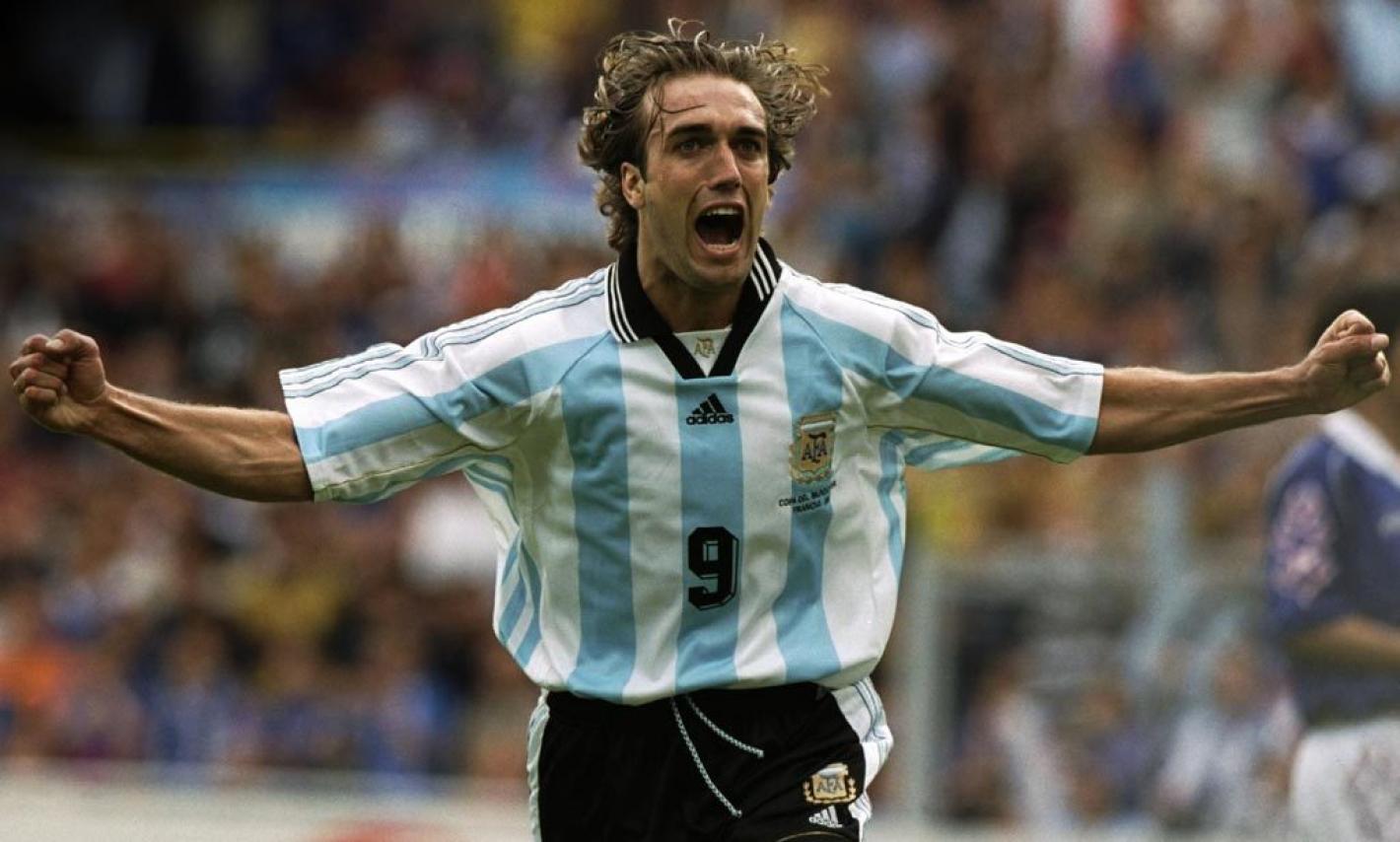 Batistuta, máximo goleador argentino en la historia de los Mundiales