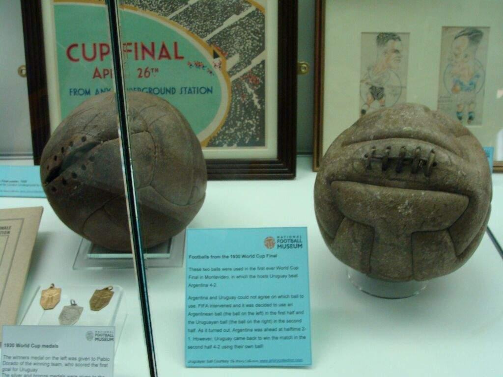 Los primeros balones de la historia de los mundiales