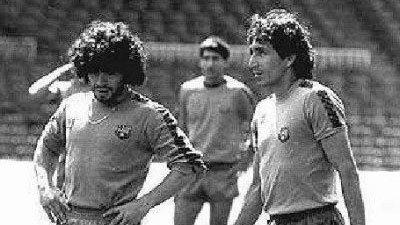 Mágico González y Maradona