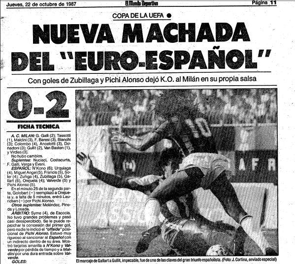 El Espanyol derrota al Milan