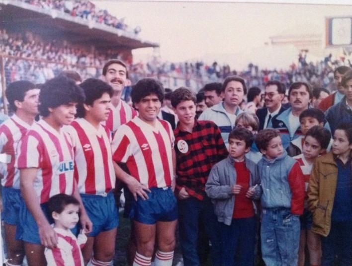 The day that Maradona brothers played in the Granada CF