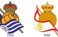El día que el Real Sporting 'copió' el escudo a la Real Sociedad