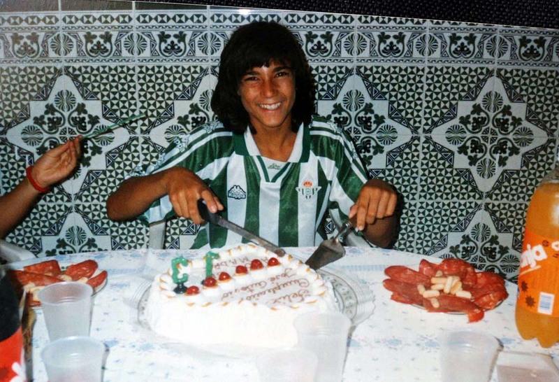 Reyes con la camiseta del Real Betis