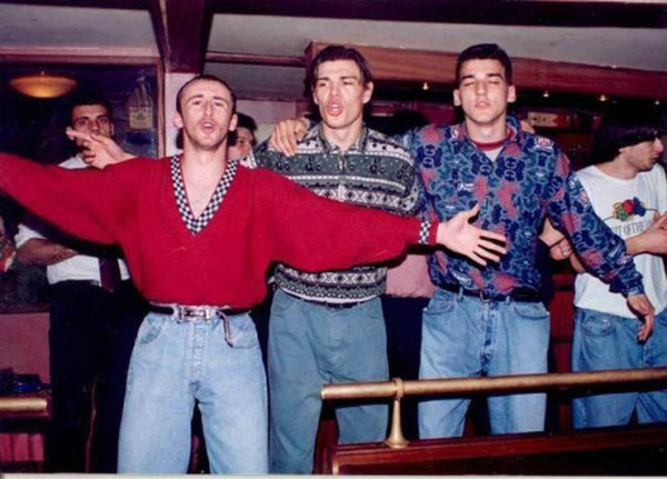 Sasa Curcic junto a Milosevic y Kovacevic