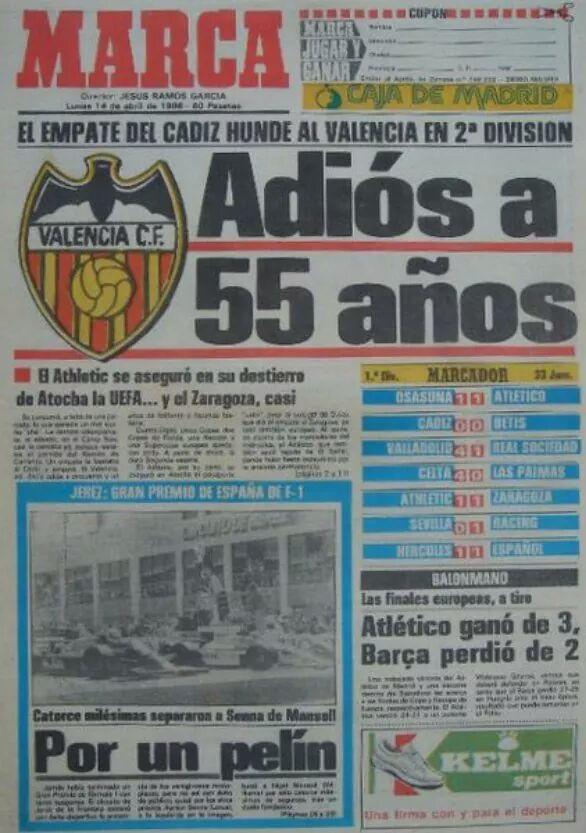 Descenso del Valencia