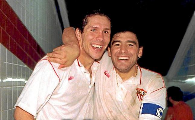 Maradona y Simeone