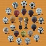 Los balones de los mundiales + Copa Jules Rimet + Copa del Mundo de la FIFA