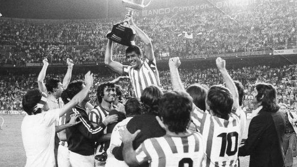 El Real Betis campeón de la primera Copa del Rey en la temporada 1976-1977