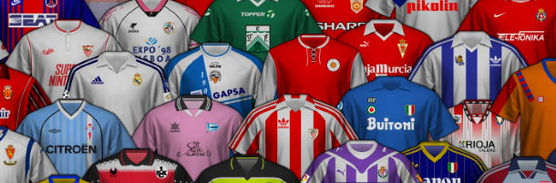 La camiseta del centenario de algunos clubes españoles