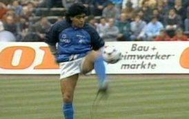 El calentamiento de Maradona en el Olímpico de Munich