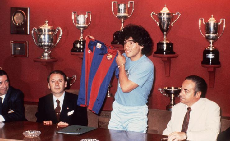 Cuando Maradona amenazó con destrozar la sala de trofeos del Barcelona
