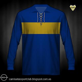 Una de las primeras camisetas de la historia de Boca Juniors