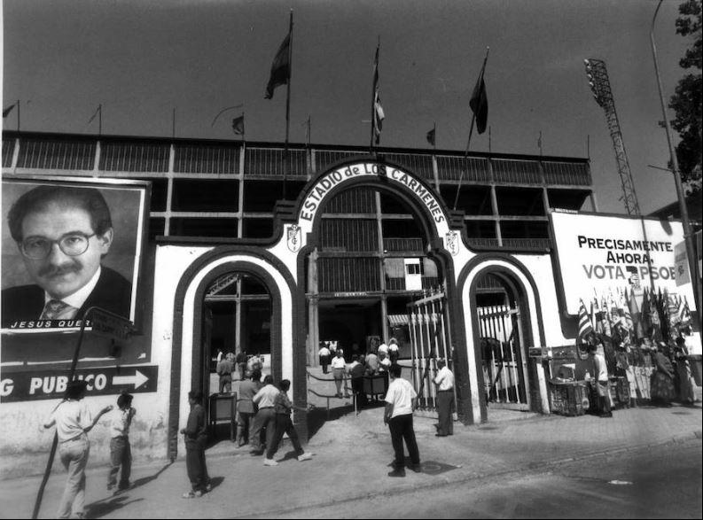 El viejo Estadio de Los Cármenes, casa del mejor Granada CF de la historia