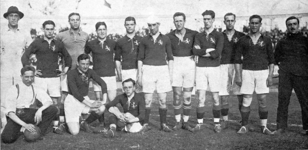 La primera Selección Española: Medalla de plata en Amberes 1920