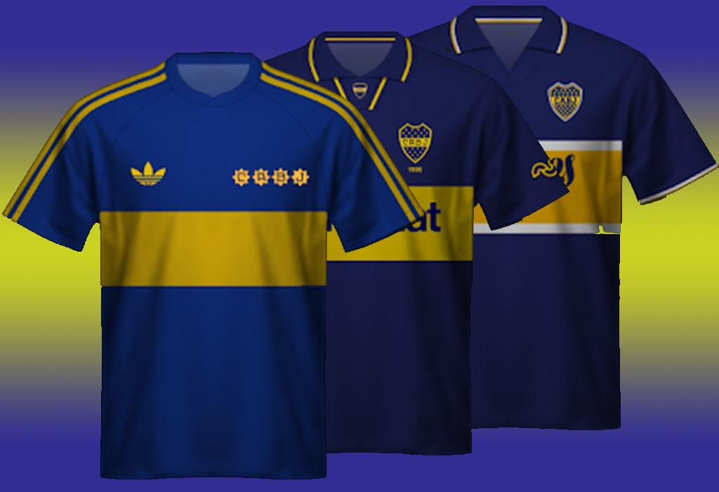 Las camisetas más bonitas de la historia de Boca Juniors
