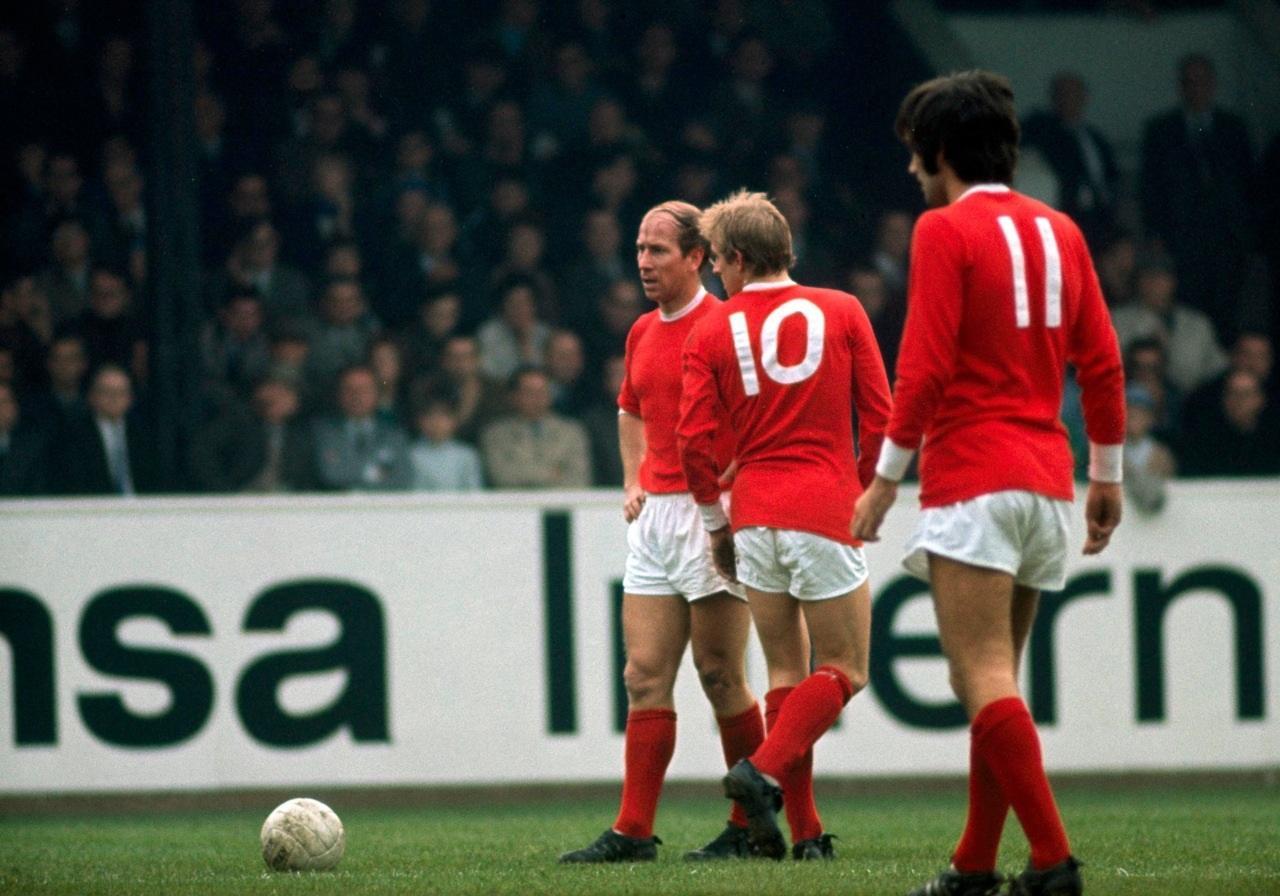 Bobby Charlton, Denis Law y George Best, 'La Santísima Trinidad' del Manchester United