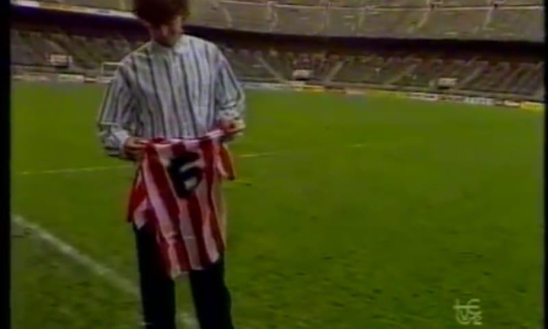 Cuando Fernando Hierro fue presentado como jugador del... ¡Atlético de Madrid!