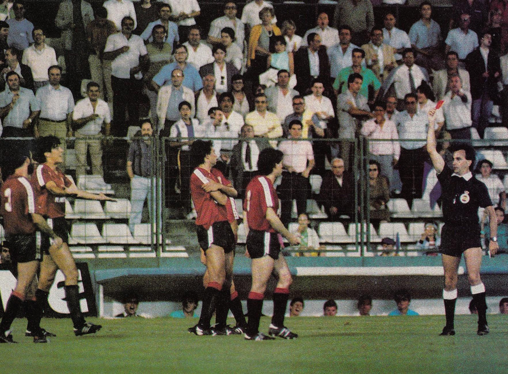 El récord de expulsiones de un equipo en un partido de la Liga española