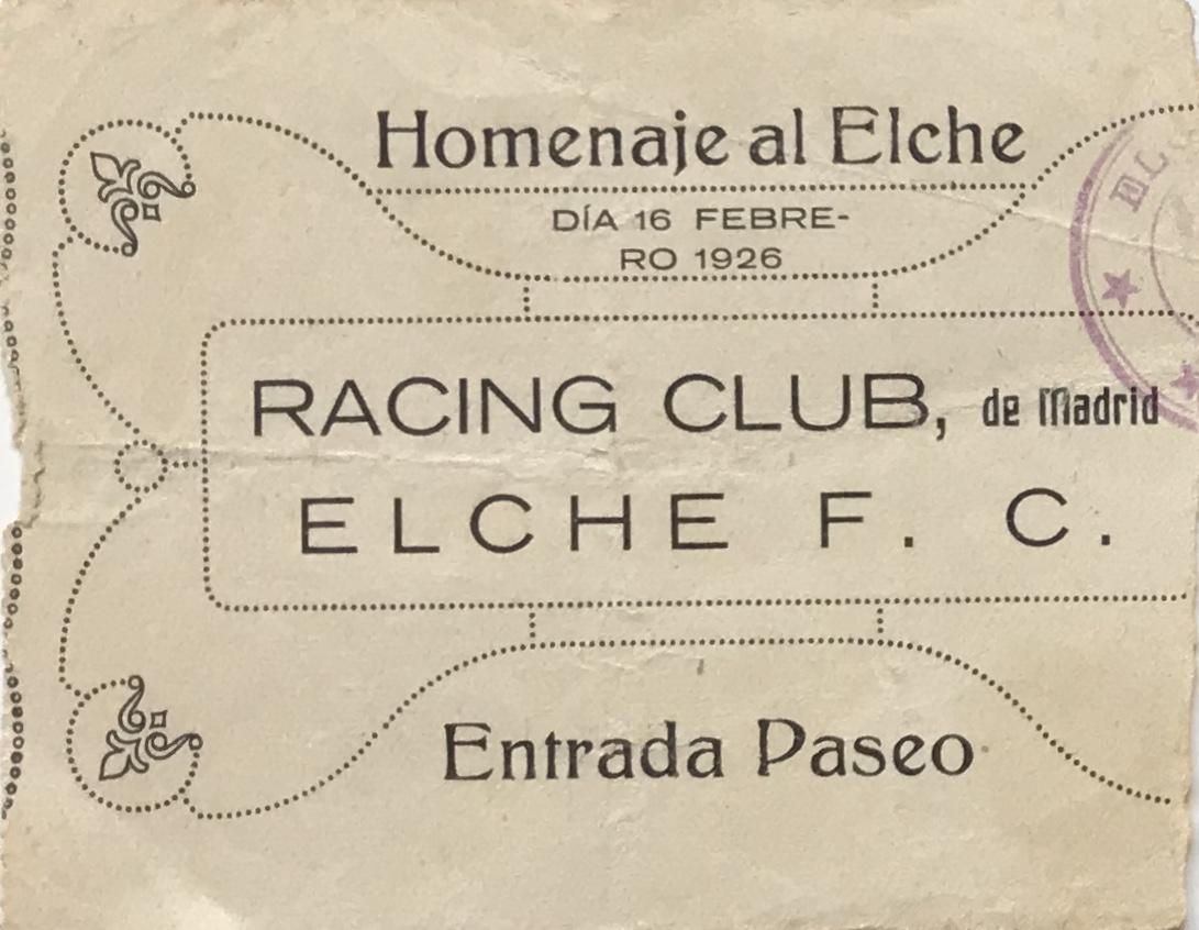 Racing Club entrada
