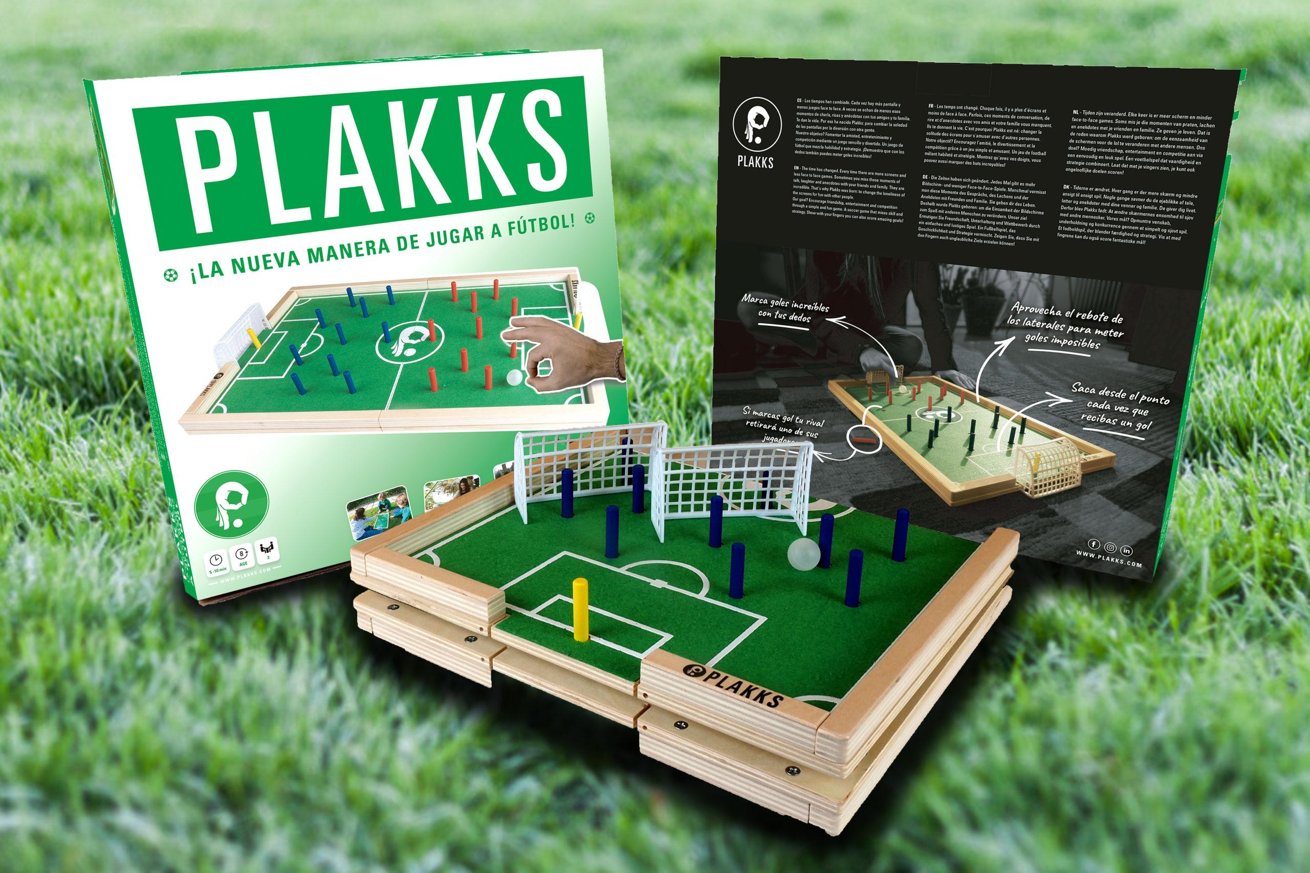 PLAKKS, el nuevo y revolucionario juego de fútbol mesa