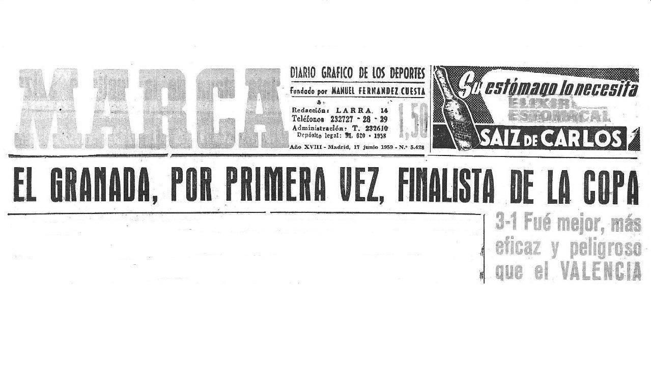 Cuando el Granada fue finalista de Copa