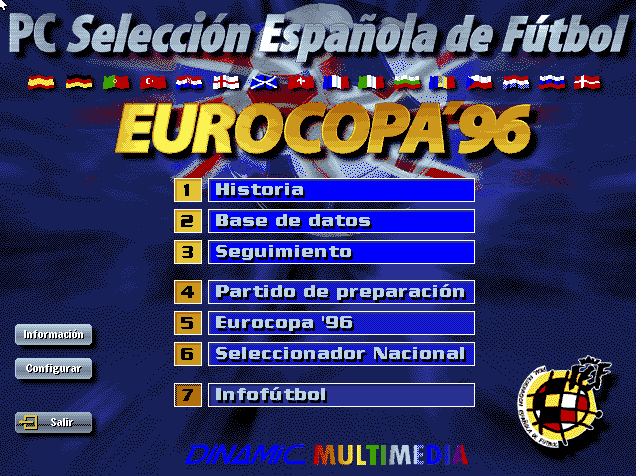 PC Selección Española Eurocopa 96, descargar y jugar en PC actual