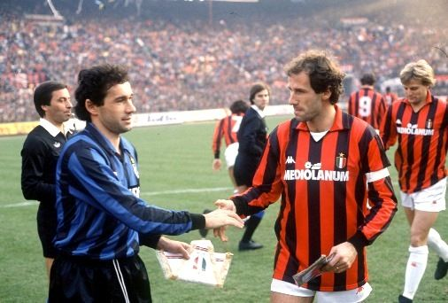 Giuseppe y Franco Baresi, hermanos y rivales