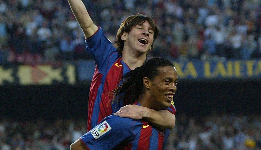 El primer gol de Messi con el FC Barcelona