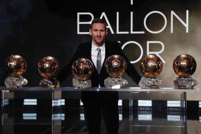 Messi Balones de Oro