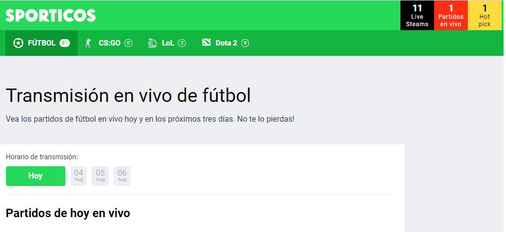 Conoce todo de Sporticos, la mejor web de fútbol en vivo