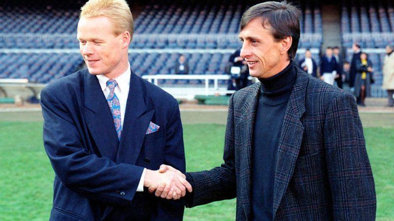Koeman y Cruyff