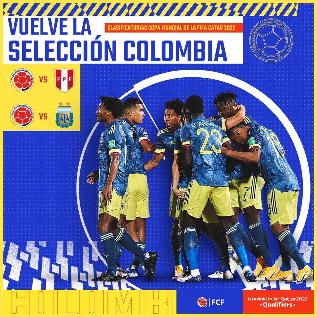 Colombia ya conoce a los 26 futbolistas que pelarán por la clasificación para Catar 2022